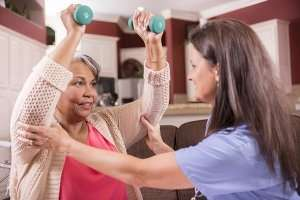 senior fitness hurdles - at home nursing in san diego